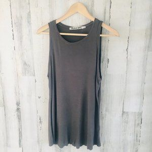 Michael Stars RIbbed Knit Tank Top Gray One Size